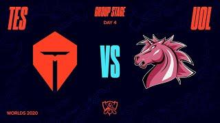 TES vs UOL | Worlds Group Stage Day 4 | Top Esports vs Unicorns Of Love (2020)