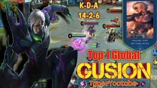 GUSION TOP 1 GLOBAL | Super Fast Hand | TyperYoutube
