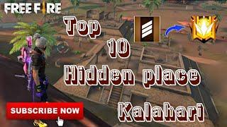 Top 10 hidden place in Kalahari map | FREE FIRE New secret place in Kalahari | Tamil | SadhaGaming