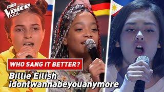 "Who sang Billie Eilish' ""idontwannabeyouanymore"" better?"