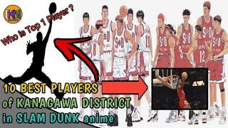 10 BEST PLAYERS of KANAGAWA DISTRICT in SLAM DUNK anime | #SlamDunk #anime #manga