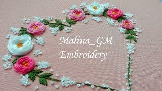 Flower Heart |Hand Embroidery |Top stitches |Design by malina_gm