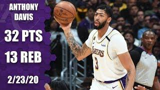 Anthony Davis drops 32-point double-double in Celtics vs. Lakers | 2019-20 NBA Highlights