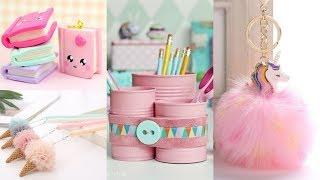 10 Cool DIY School Supplies! Easy Crafts and Hacks For Back To School