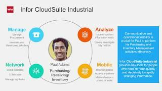 CloudSuite Industrial ERP Purchasing and Receiving Inventory Demo