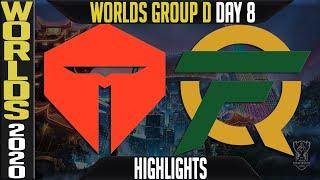 TES vs FLY Highlights   Worlds 2020 Group D Day 8 - LoL World Championship   Top Esports vs FlyQuest
