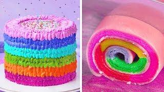So Yummy Rainbow Cake Recipes | Top Yummy Cake Hacks | How To Make Colorful Cake Decorating Ideas