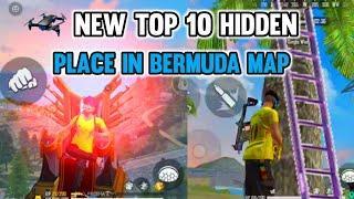 New Top 10 Hidden Place In Bermuda Map Freefire 2021 || Rank Pushing Hidden Tricks || Fearless Gamer
