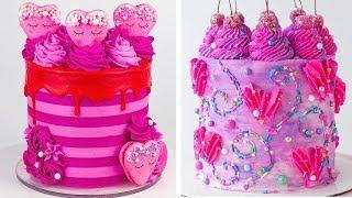 10+ Buttercream Cake Decorating For Valentine | So Yummy Colorful Cake Recipes | Extreme Cake