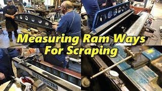 "Inspecting & Measuring 36""  Cincinnati Shaper Ram Ways"