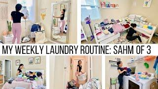 STAY AT HOME MOM OF 3 WEEKLY LAUNDRY ROUTINE//CLEANING ROUTINE MOTIVATION //Jessica Tull cleaning