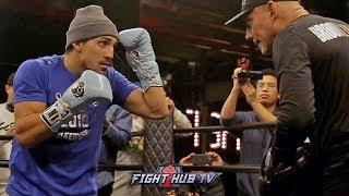 BEAST! TEOFIMO LOPEZ WRECKS PADS WITH POWER & PRECISION DURING WORKOUT WITH FATHER