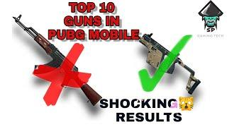 Top 10 guns in pubg mobile    you never expect this   shocking results