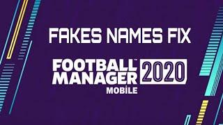 How to Fix Fake Names (Players) and Get Real Names - Football Manager 2020 Mobile