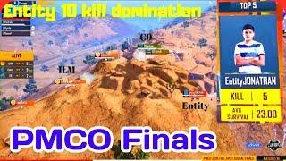 Entity 10 kill Domination in PMCO Finals Jonathan top Fragger in PMCO Finals
