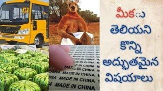 Telugu amazing and interesting facts/unknown facts in telugu/top telugu facts/world facts/Ep-4