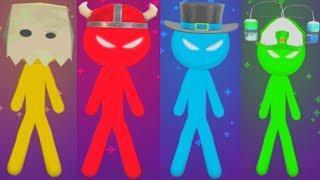 THE STICKMAN MINI GAMES ADVENTURE Gameplay Walkthrough STICKMAN PARTY Android Game