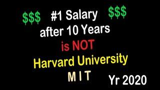 Top Universities in the USA and Best University Salary After 10 Year Ranking Chart for Year 2020
