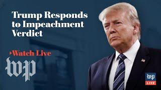 President Trump makes public statement after impeachment acquittal (FULL LIVE STREAM)