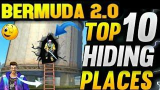 GARENA FREEFIRE || TOP 10 HIDDEN PLACE ||#SMALL TIPS GAMER