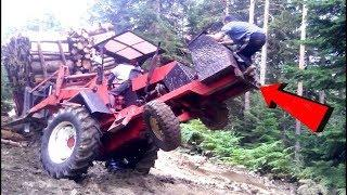Amazing Driving Skill Big Truck Logging Power Action - Extreme Equipment Machines Working