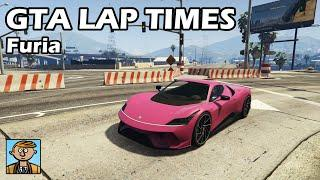 Fastest Supercars (Furia) - GTA 5 Best Fully Upgraded Cars Lap Time Countdown