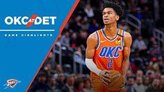 Highlights | Thunder at Pistons