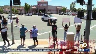 Demonstrations hoping for change held in Poway