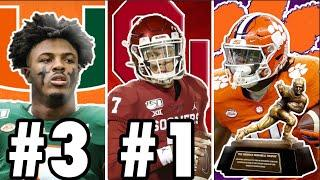 TOP 10 HEISMAN CANDIDATES FOR 2020