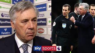 Ancelotti on Everton's disallowed goal and being sent off! | Everton 1-1 Man Utd