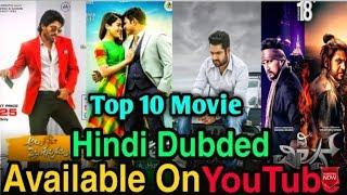 Top 10 Big New South Indian Movies Hindi Dubbed | Available On Youtube | fk movies studio