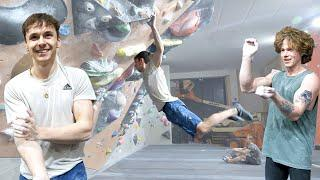 Can't believe Fredrik did that move! Then he walks over to 8B/V13 problem