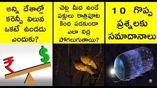 10 most interesting questions and answers   interesting facts in telugu    askRT episode 7   facts