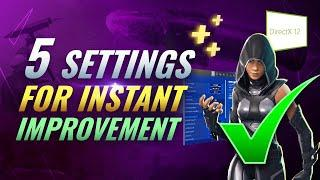 5 GAME CHANGING Settings You Need to ABUSE in Fortnite Chapter 2