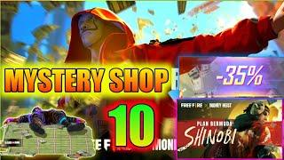 MYSTERY SHOP 10 FULL DETAILS REVIEW FREE FIRE || MONEY HEIST || PRG GAMERS