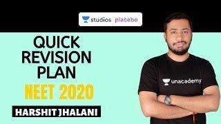 Quick Revision Plan | 4 Months | NEET Chemistry  | Target NEET 2020 | Harshit Jhalani
