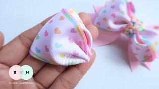 Amazing Ribbon Bow - Hand Embroidery Works - Ribbon Tricks & Easy Making Tutorial #100
