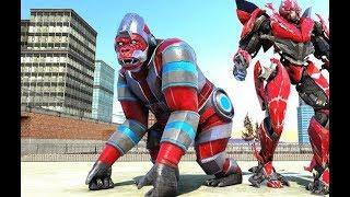 Amazing Monster Gorilla Rampage City Attack Animal | City Rescue Monster Gorilla Robot