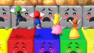 Mario Party 10 MiniGames - Mario Vs Peach Vs Luigi Vs Daisy (Master Difficulty)