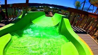 Shotgun Falls Water Slide at Raging Waters Water Park (San Jose)