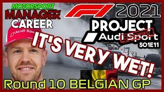 PROJECT AUDI | #11 - It's Very Wet! | F1 2021 Motorsport Manager Career | Round 10 S01E11