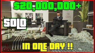 Make $20,000,000+ in ONE DAY in GTA 5 Online SOLO - BEST of Money Making Guide Series 2020