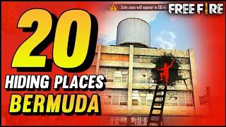 TOP 20 HIDING PLACES IN BERMUDA MAP FREE FIRE [Ranked Match]