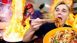 Incredible FIRE NOODLES!! Top 5 BEST Street Foods in Penang, Malaysia! - *Char Koay Teow*