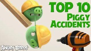 Angry Birds-Pigs at Work | Top 10 Accidents