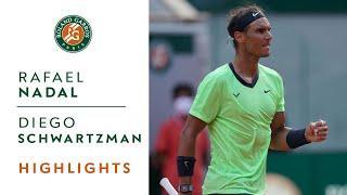 Rafael Nadal vs Diego Schwartzman - Quarterfinals Highlights I Roland-Garros 2021