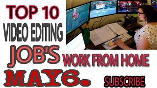 #TOP10 TOP 10 VIDEO EDITING JOBS WEBSITES WORK FROM HOME