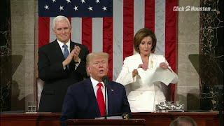 Nancy Pelosi rips papers behind President Trump after State of the Union address