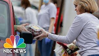 Food Bank Lines Surge Across America With The Rate Of Unemployment | NBC News NOW