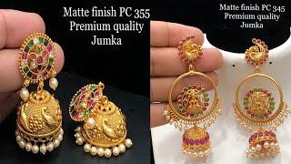latest one gram gold ear rings collections for best price
